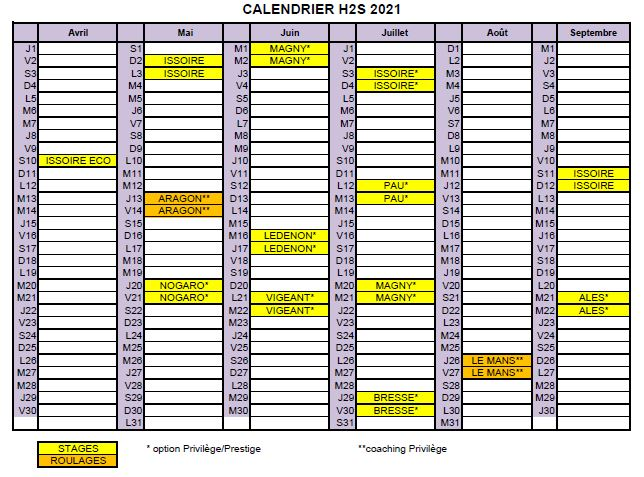 Calendrier 2021 image
